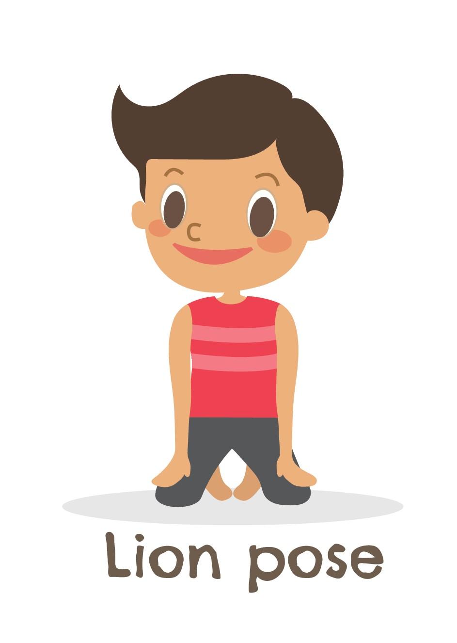 Lion Pose Kid's Yoga