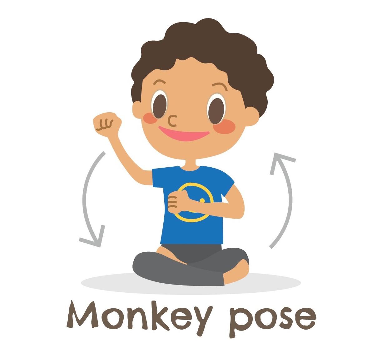 Monkey Pose Yoga